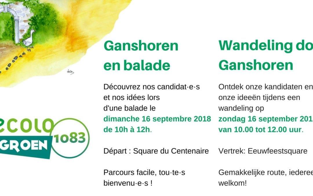 Ganshoren en balade avec Ecolo-Groen / Op wandel met Ecolo-Groen